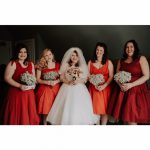 Lovely Carley & her maids  photo courtesy of N Kirk Photography
