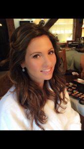 smiling brunette bride