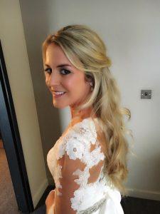 close up, blonde bride