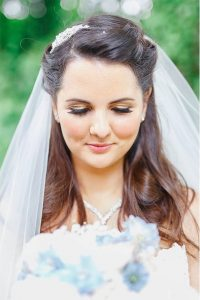happy bride, close up