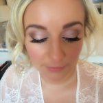 close up on blonde bride